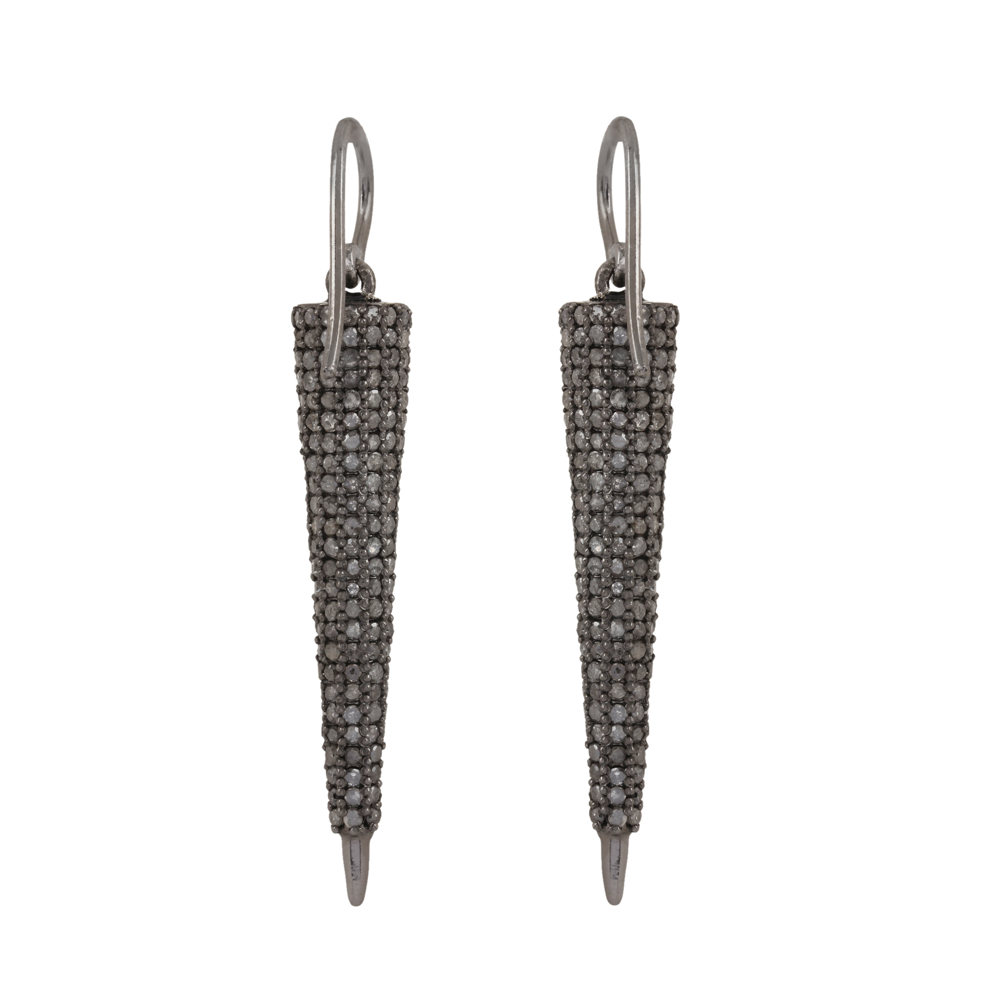 925 silver hook earrings diamond fine jewelry