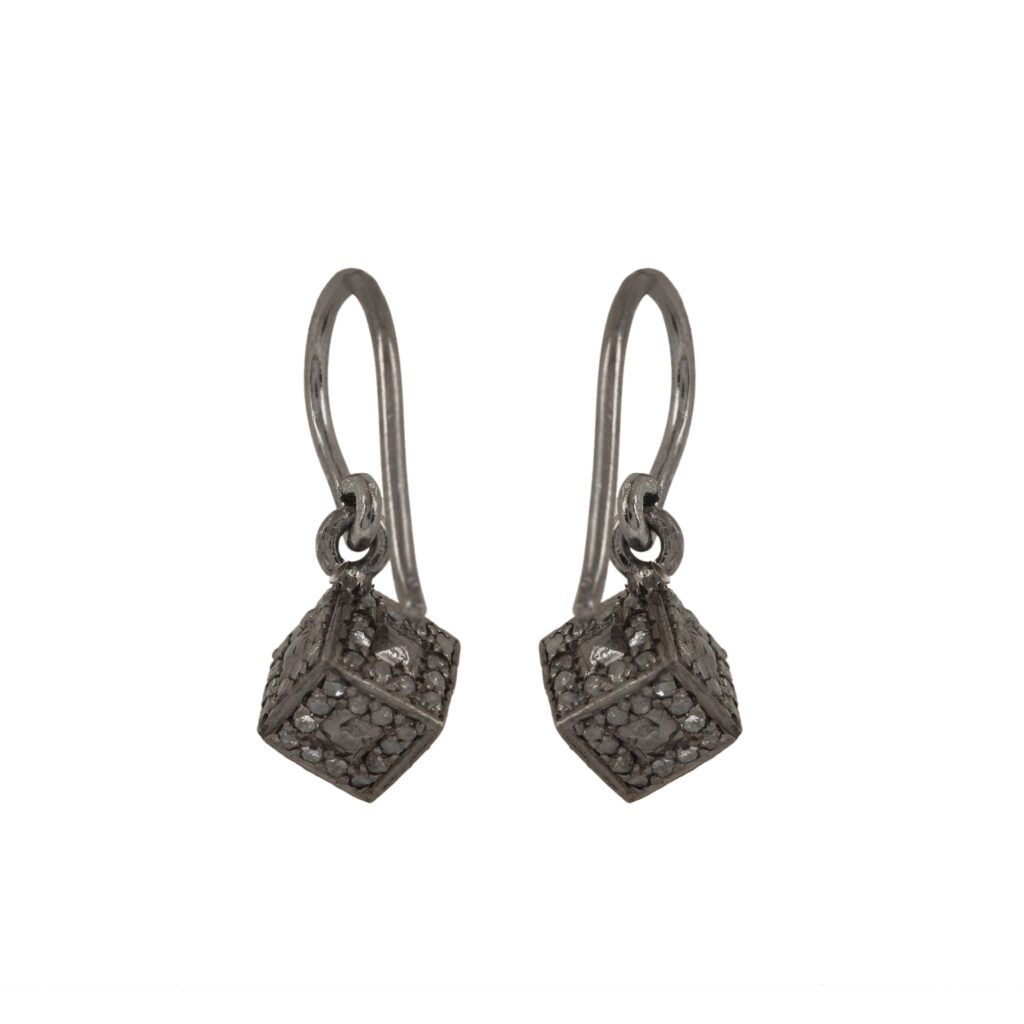 925 sterling silver beautiful hook earrings adorned with 0.82ct diamond