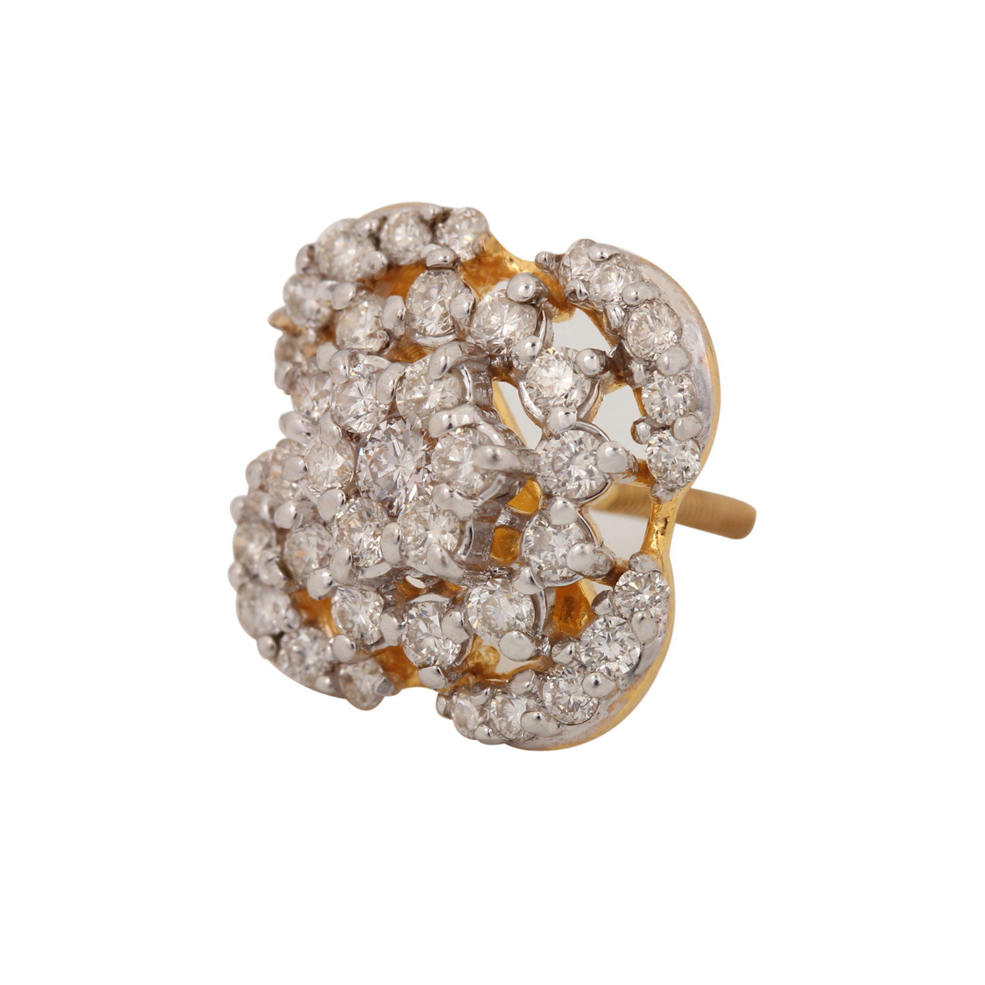 Natural Diamond Earring In Yellow Gold