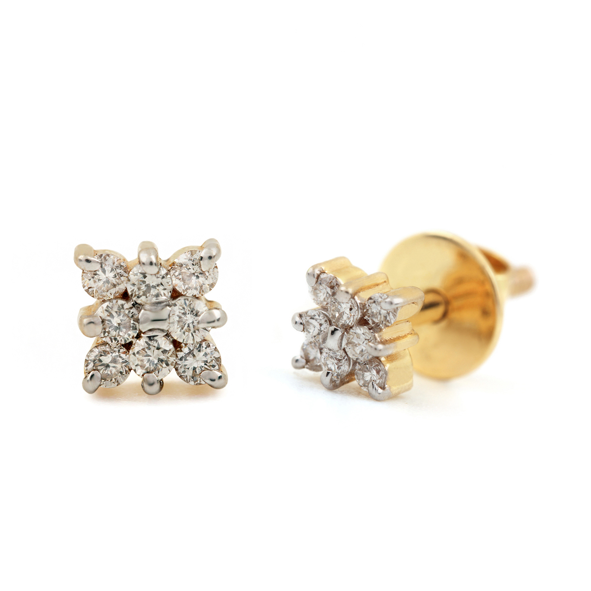 Natural Diamond 14k Gold Earrings