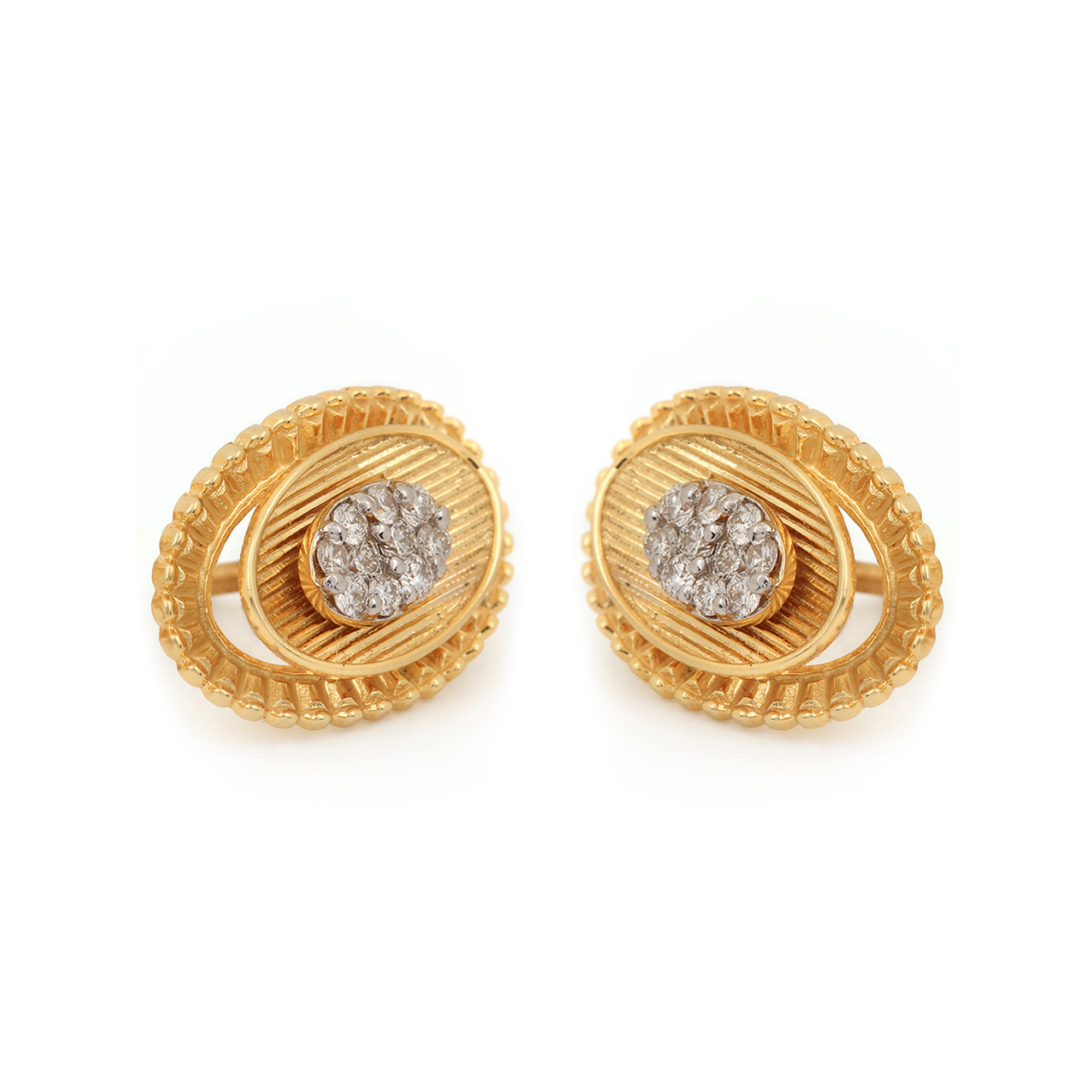 Natural Diamond Earrings, Solid Gold Fine Jewelry