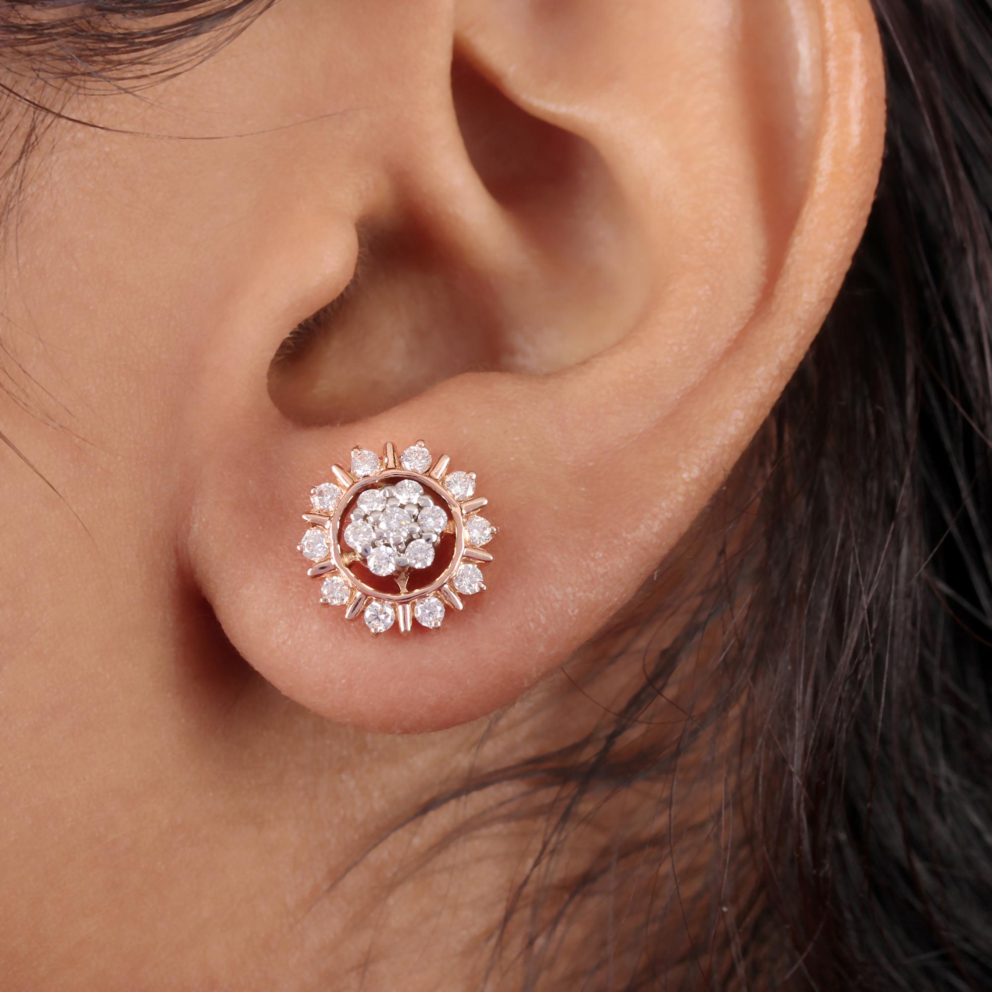 Real Diamond Gold Earrings
