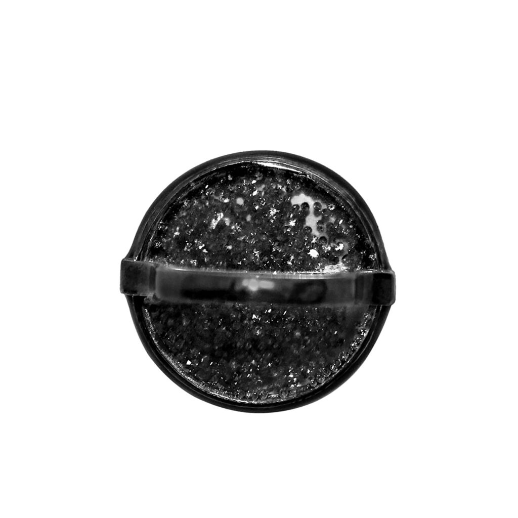 Loose diamond 925 sterling silver crystal shaker ring