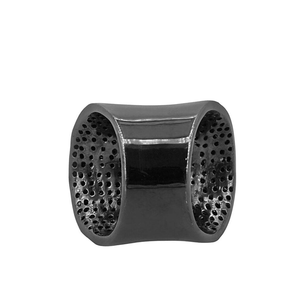 Black diamond 925 sterling silver designer ring