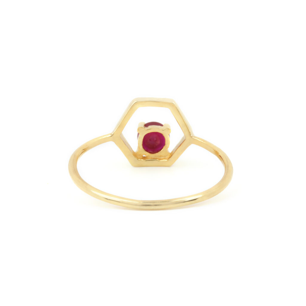 Diamond Ruby 14k Solid Gold Ring
