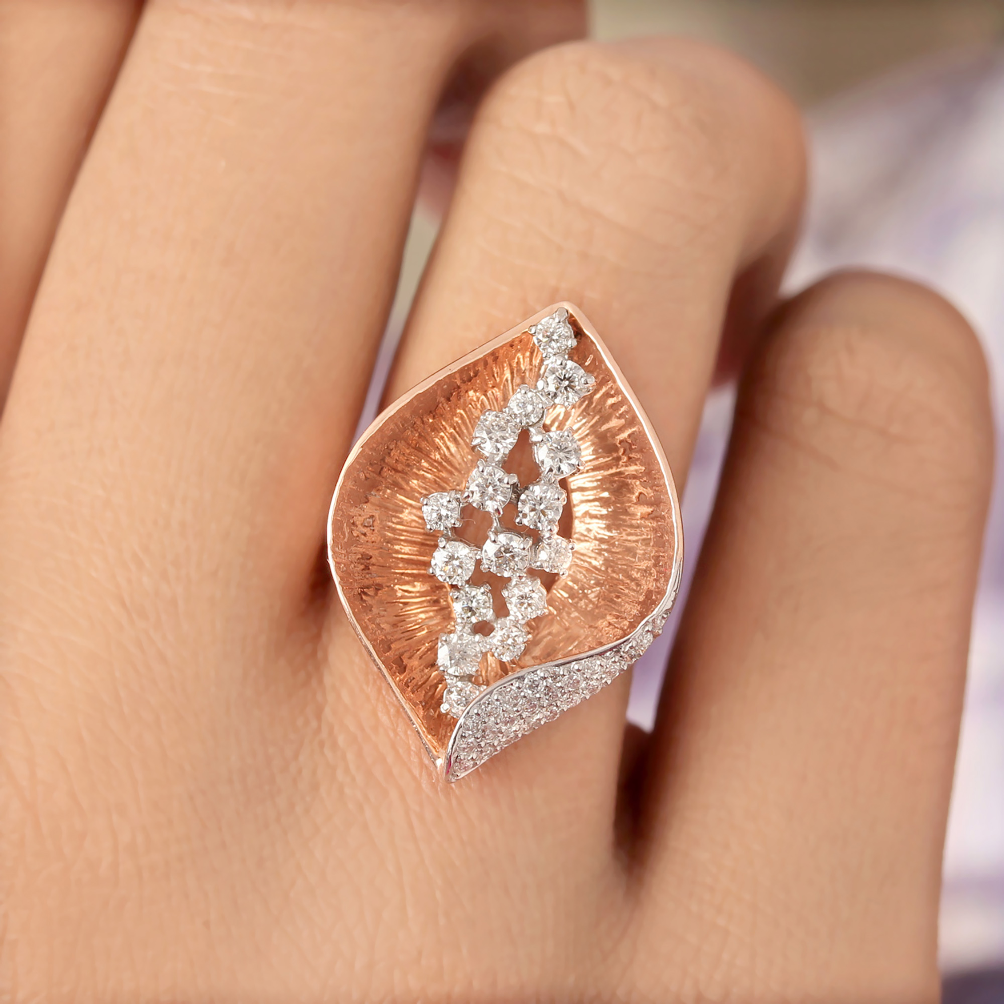 Diamond Rose Gold Ring