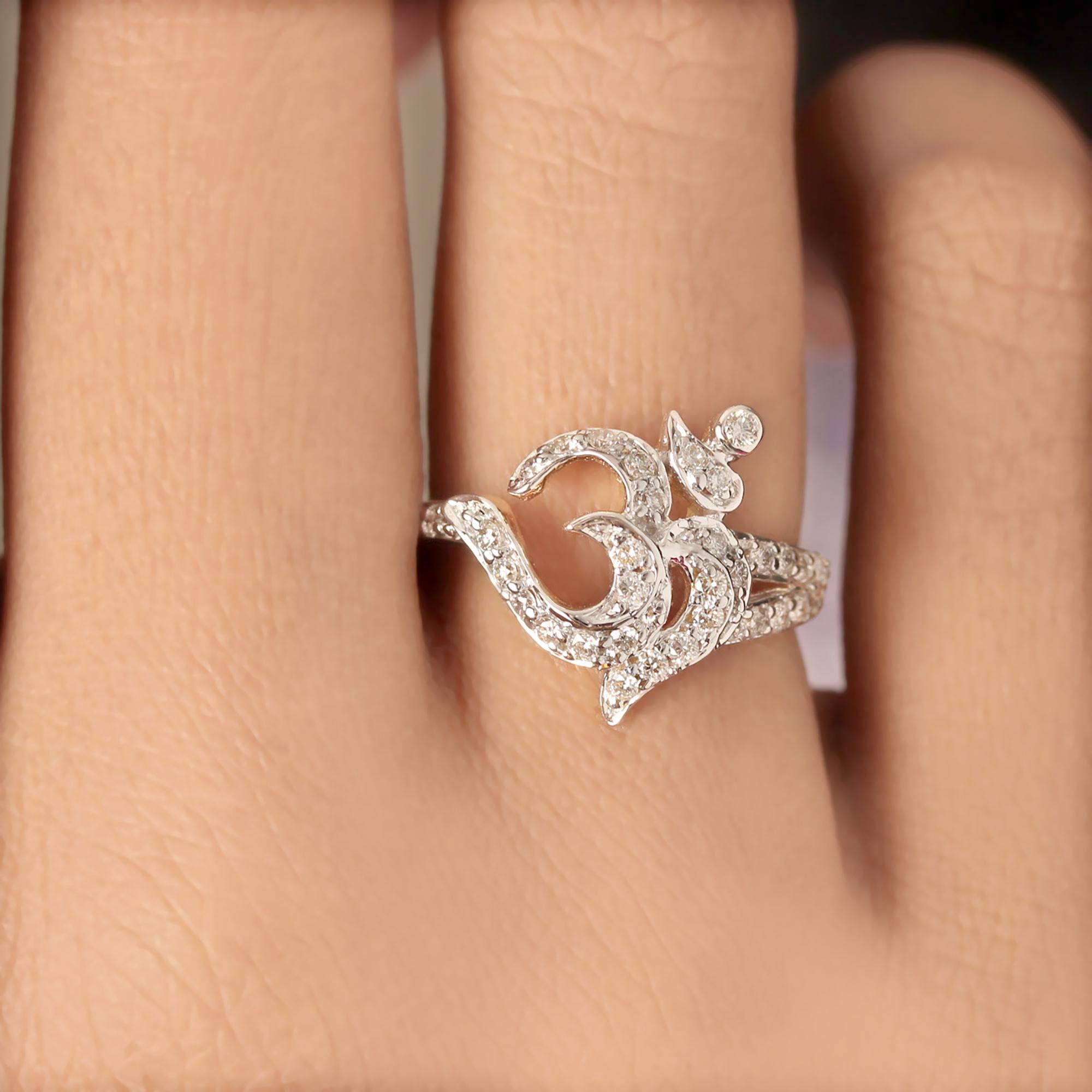 Design OM Ring In Diamond