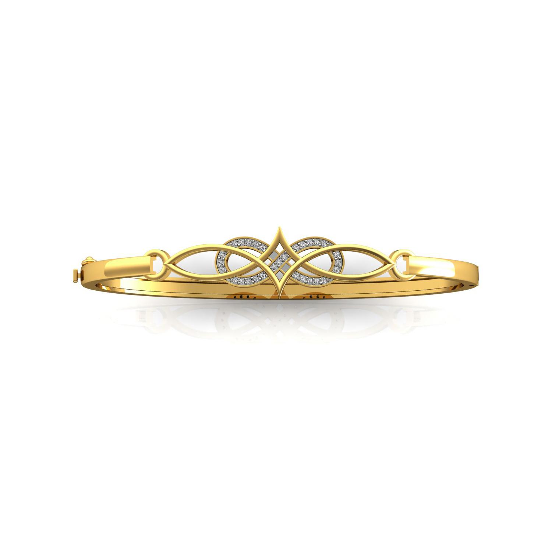 Genuine diamond solid gold bracelet fine jewelry