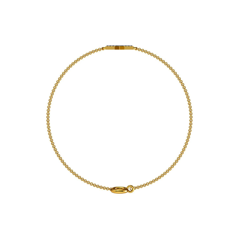 Natural diamond solid gold david star chain bracelet